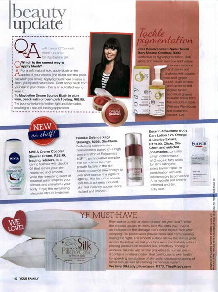 Silk Lady in the Press - Press Articles Featuring Silk Lady Products